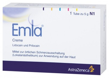 EMLA Cream local anaesthetics 5% - 5g (lidocaine 2.5%, prilocaine 2.5%)